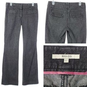 RW&CO Boot Cut Jeans Mid Rise Gray Stretch